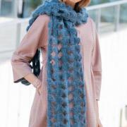 Как связать крючком длинный ажурный шарф крупной вязки