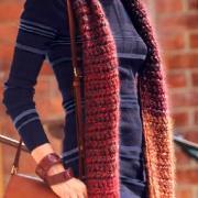 Как связать крючком длинный шарф крупной вязки