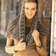 Как связать крючком объемный шарф труба