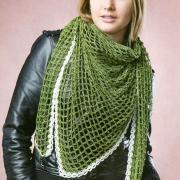 Как связать крючком сетчатый шарф с белой окантовкой