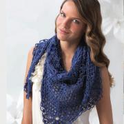 Как связать крючком женская шаль с ажурными узорами
