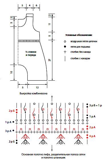Схема комбинезона крючком для начинающих