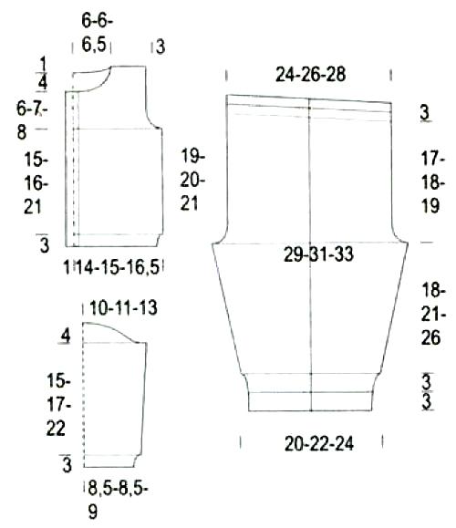 Схема вязания костюмчика на мальчика 737