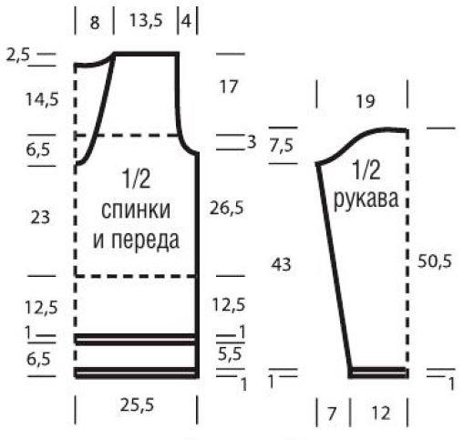 Схемы для вязания спинки спицами 964