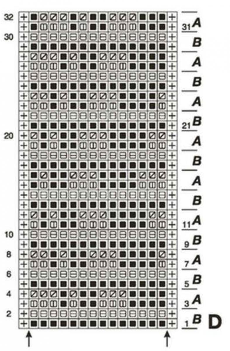 схема вязания спица