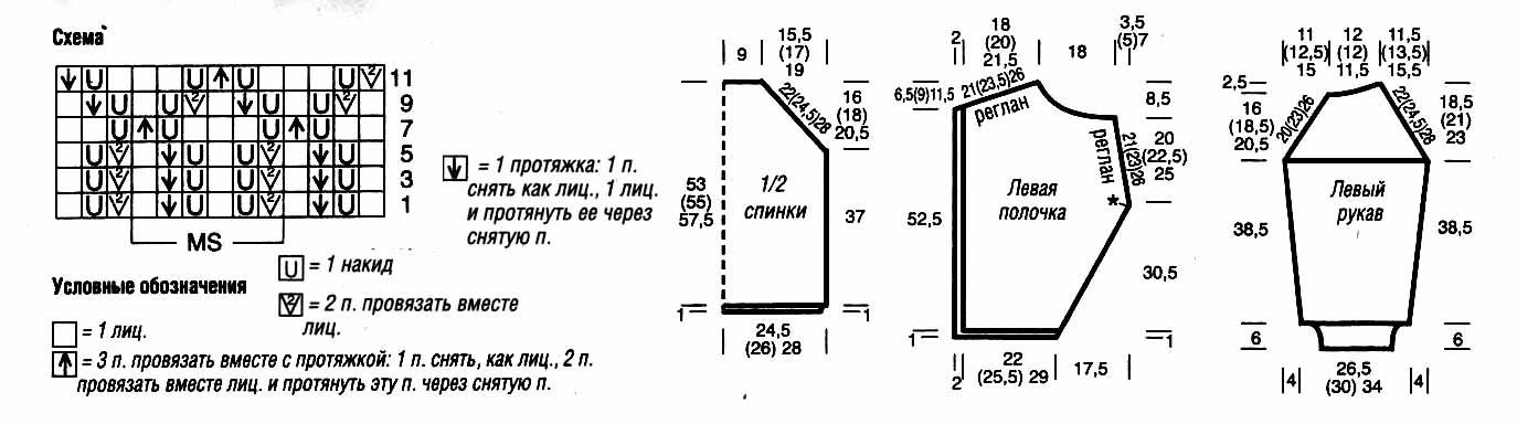 Схема вязания на спицах кофту собаке