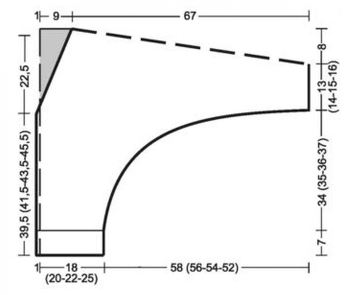 схема вязания спицами кофты летучая мышь