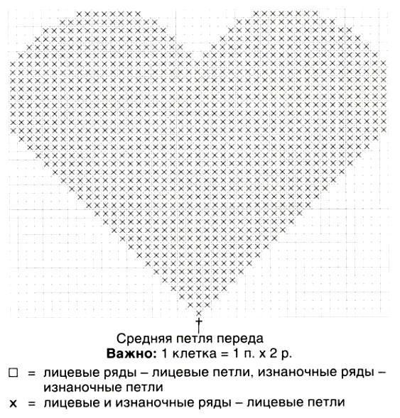 Связать рисунок сердце