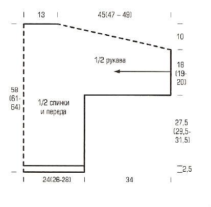 Кардиган крупной вязки схема вязания фото 960