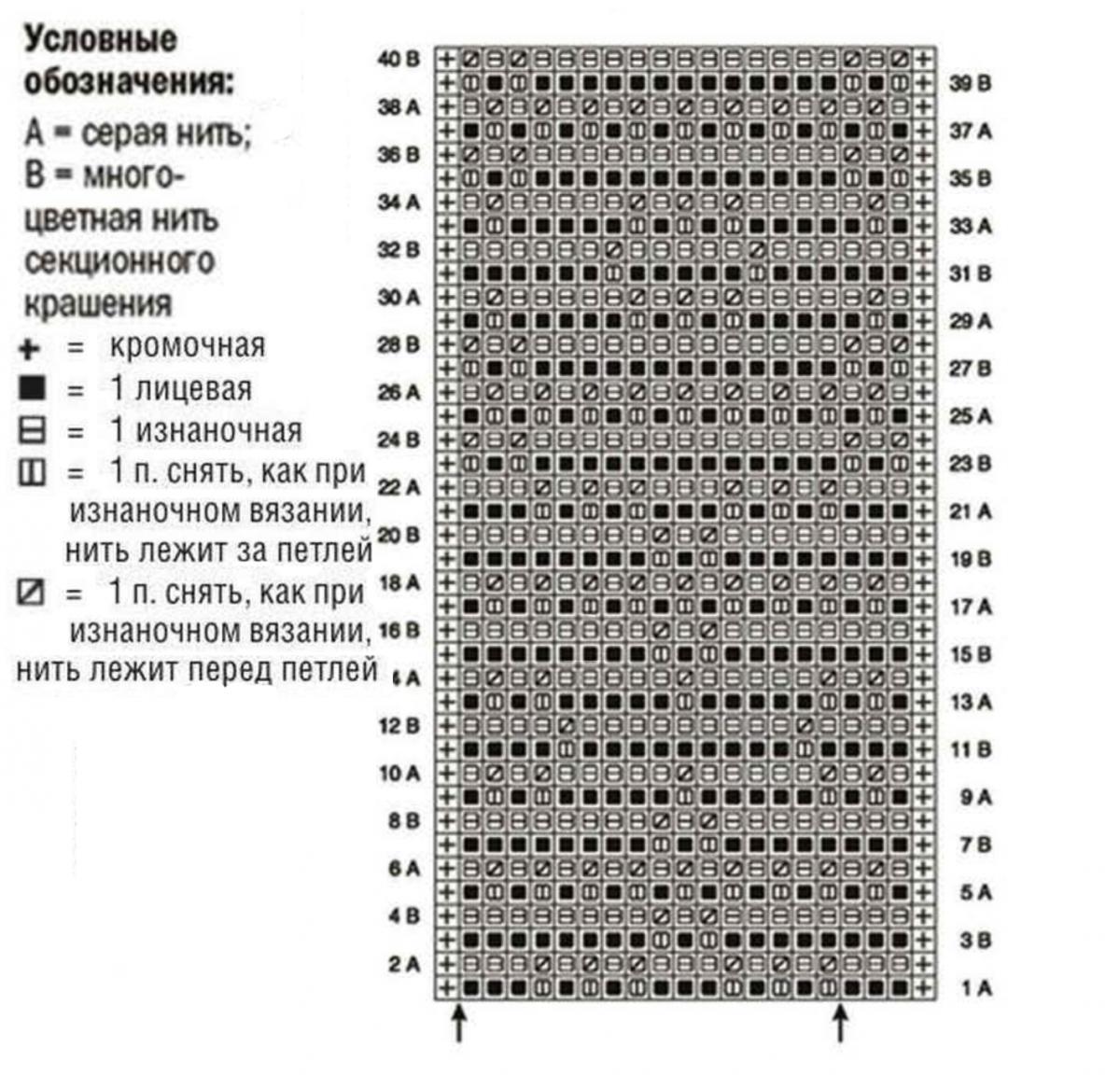 2 х цветные узоры схемы вязания спицами