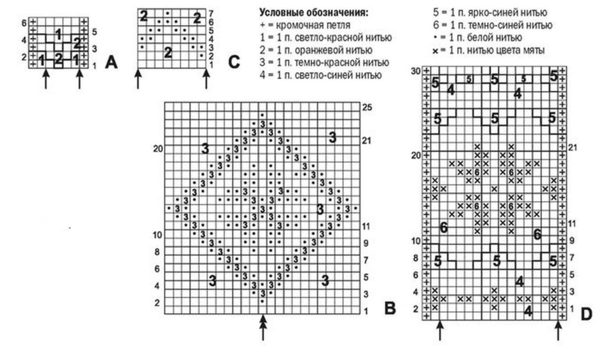 Следки ракушками схема вязание 57