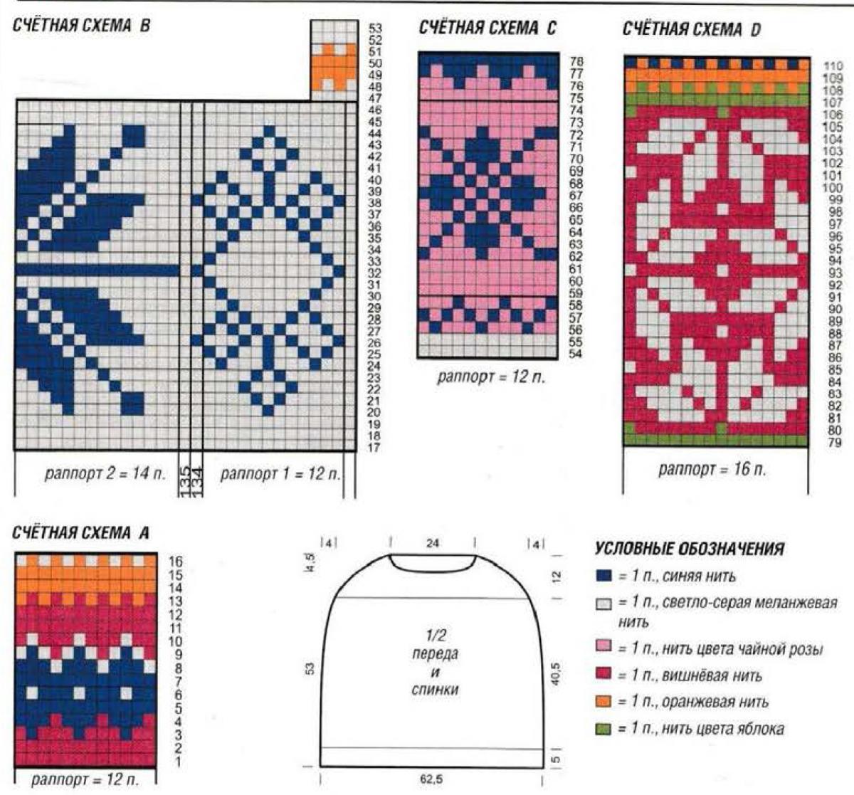 Норвежские узоры вязание схема играфия
