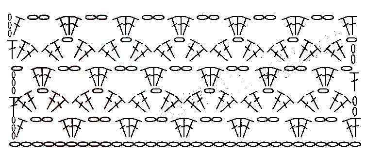 схема вязания туника с ажурной спинкой