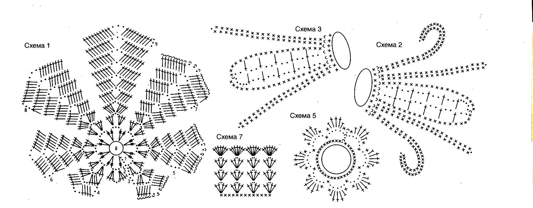 Вязание из ириса схема описание