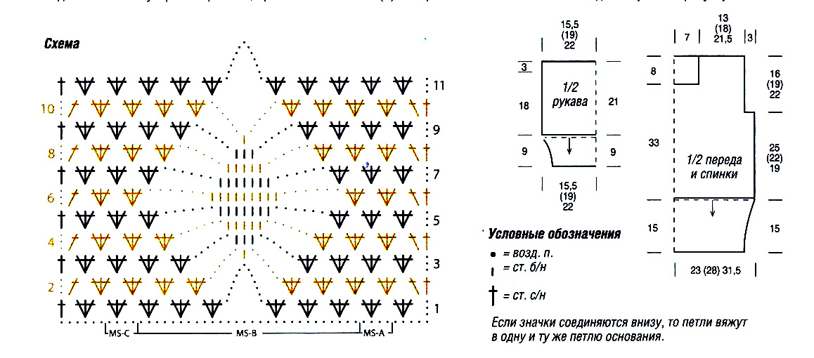 Узоры крючком с описанием и схемами ромбы