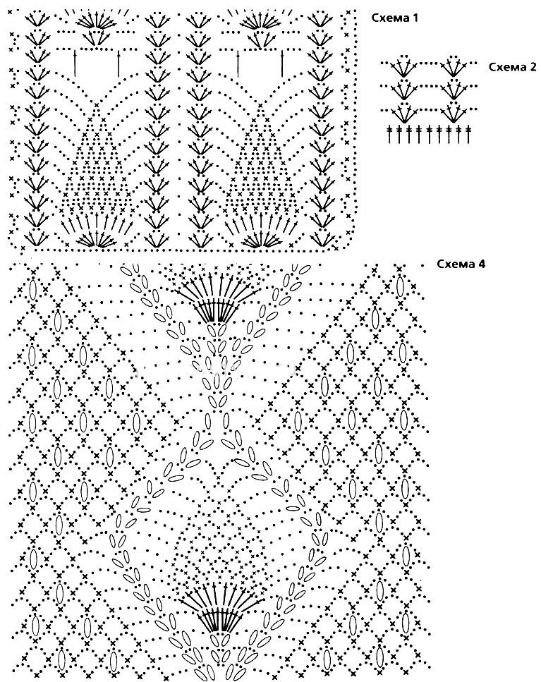 Красивые схемы вязания тунику