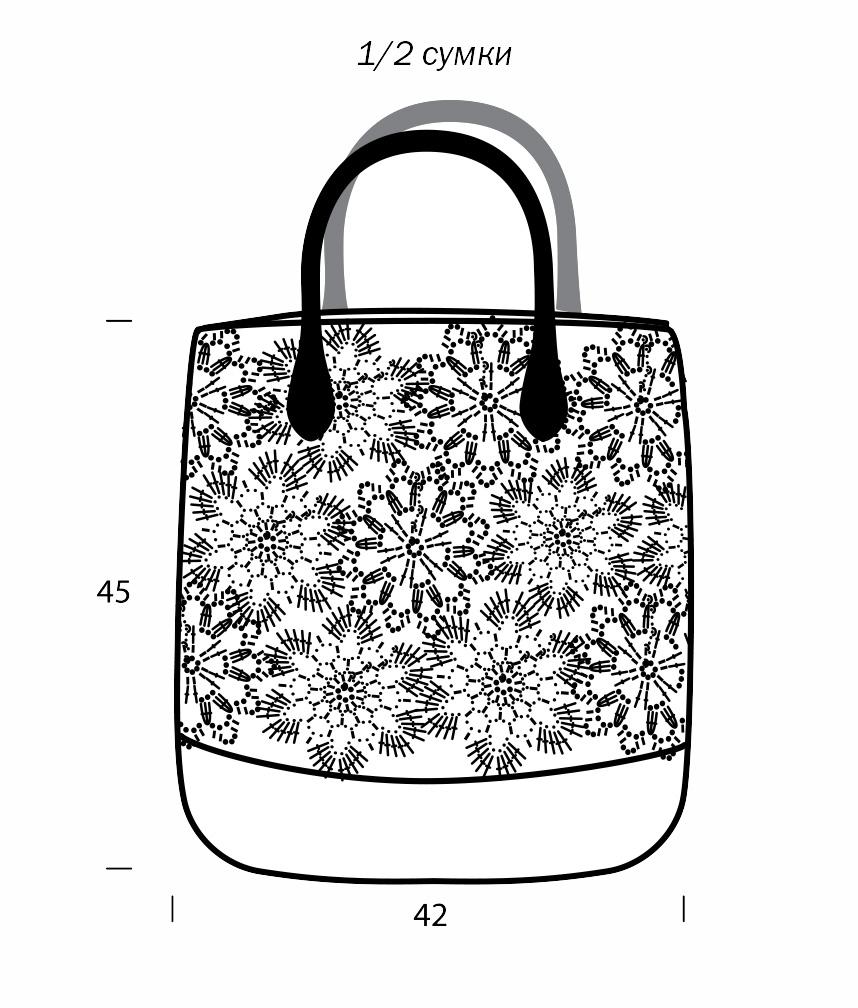 схема вязания сумки спицами для начинающих