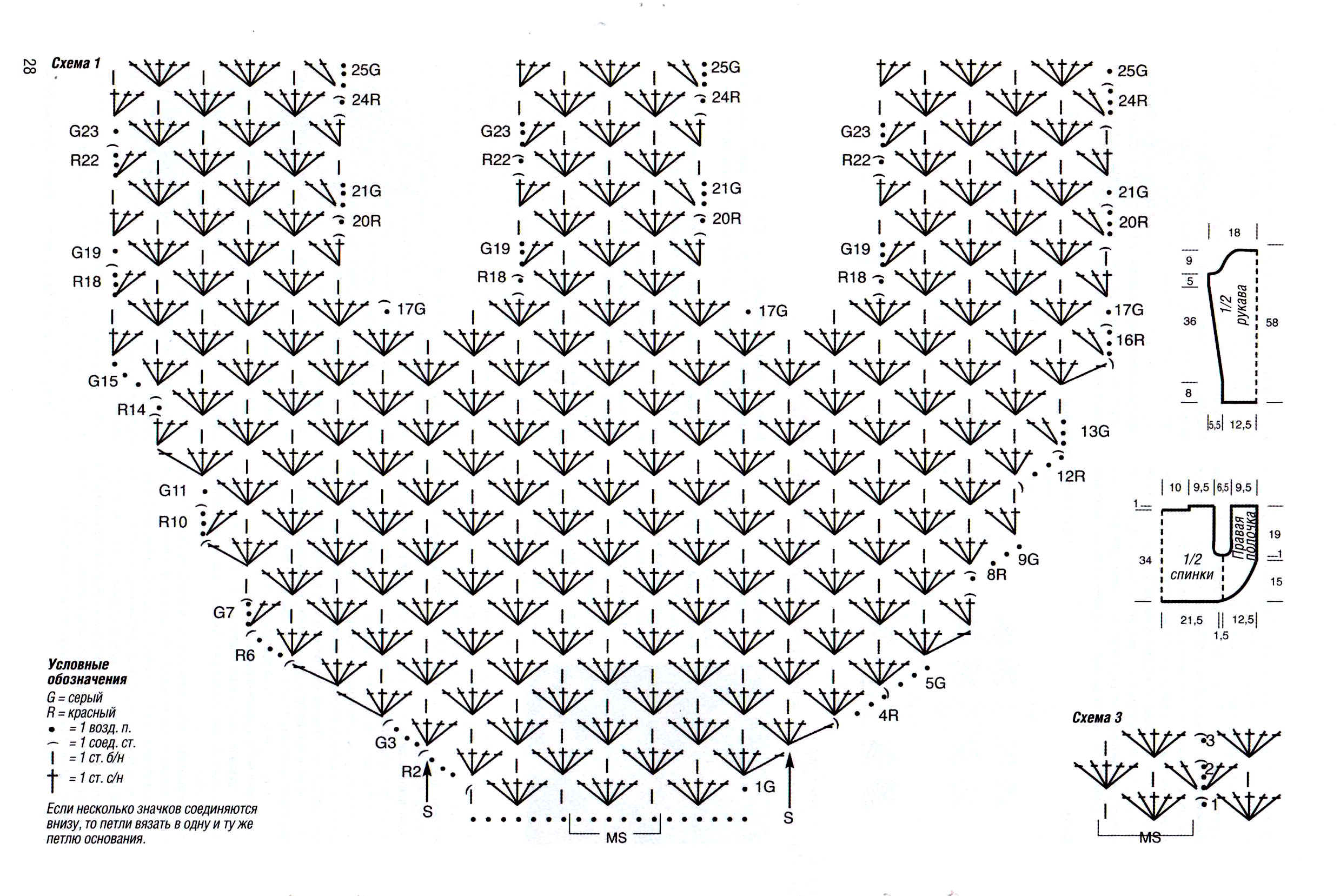 Схема вязания крючком накидки на плечи 62